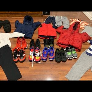 Boy clothes and shoes everything for 120 dollars